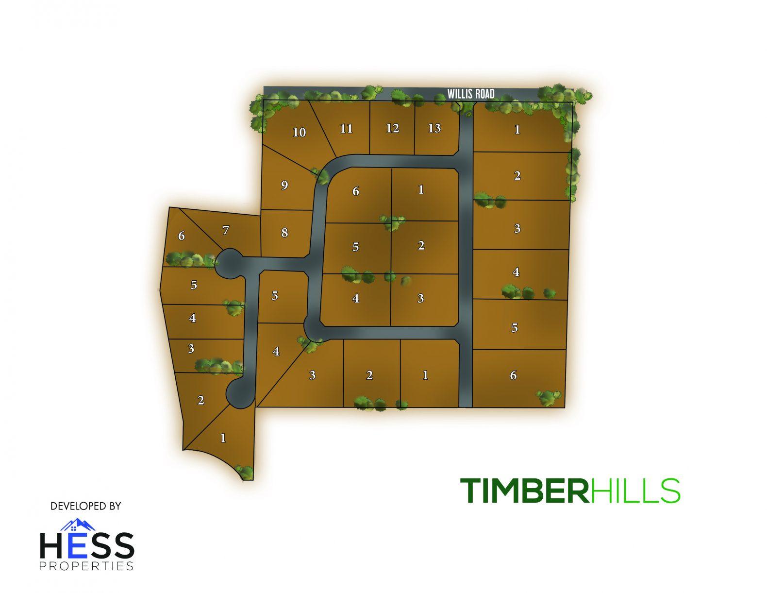 Timber Hills Plat Map